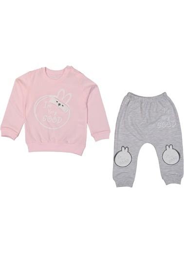 Ayfa Tekstil Anılço Baby Very Good Tavşanlı Kız Bebe Takım AFYAHT0038 Pembe